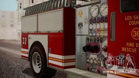 GTA 5 MTL Firetruck IVF for GTA San Andreas right view