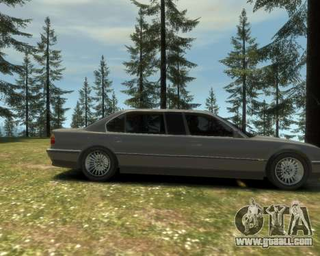 BMW L7 (750IL E38) 2001 for GTA 4 back view