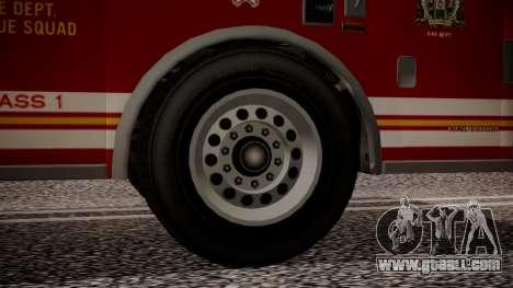 GTA 5 MTL Firetruck IVF for GTA San Andreas back left view