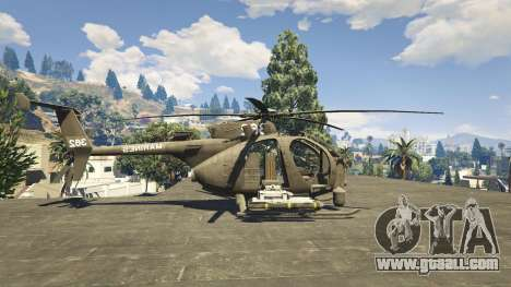 GTA 5 MH-6/AH-6 Little Bird Marine
