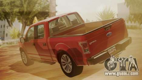 Ford F-150 2015 Stock for GTA San Andreas left view