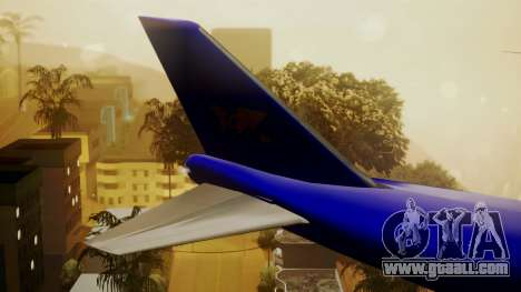 Boeing 747-200 Trans GTA Air for GTA San Andreas back left view