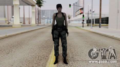 Resident Evil Remake HD - Jill Valentine (Army) for GTA San Andreas second screenshot