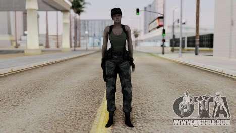 Resident Evil Remake HD - Jill Valentine (Army) for GTA San Andreas second screenshot