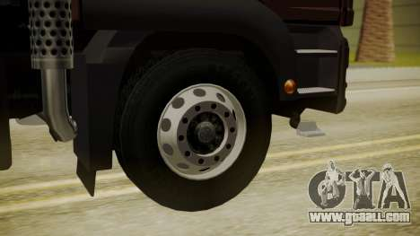 MAN TGS 8x4 Dumper for GTA San Andreas back left view