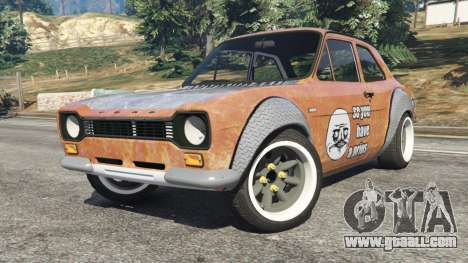GTA 5 Ford Escort MK1 v1.1 [Hoonigan] right side view