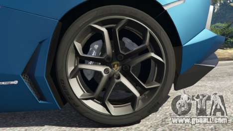 GTA 5 Lamborghini Aventador LP700-4 v2.1 rear right side view