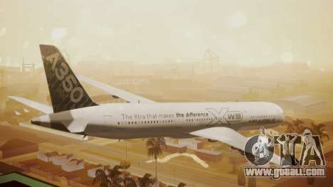 Airbus 350-900XWB Around The World for GTA San Andreas left view