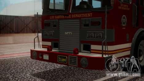 GTA 5 MTL Firetruck IVF for GTA San Andreas inner view
