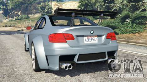 GTA 5 BMW M3 (E92) WideBody v1.0 rear left side view