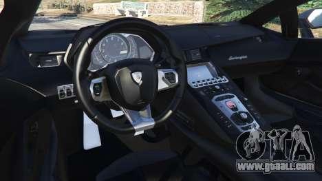 GTA 5 Lamborghini Aventador LP700-4 Police v4.0 right side view