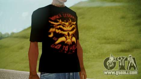 Brock Lesnar Shirt v1 for GTA San Andreas second screenshot