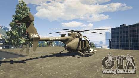 GTA 5 MH-6/AH-6 Little Bird Marine fourth screenshot