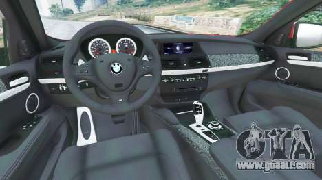 GTA 5 BMW X6 M (E71) rear right side view