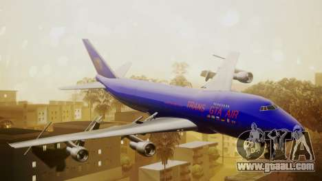 Boeing 747-200 Trans GTA Air for GTA San Andreas