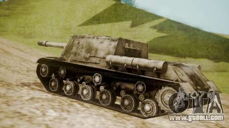 ISU-152 Snow from World of Tanks for GTA San Andreas left view