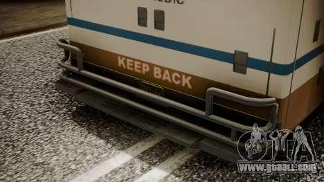 GTA 5 Brute Ambulance IVF for GTA San Andreas back view