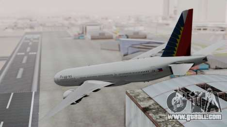 Boeing 777-200LR Philippine Airlines for GTA San Andreas left view
