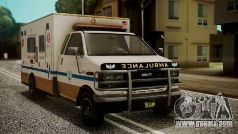 GTA 5 Brute Ambulance IVF for GTA San Andreas