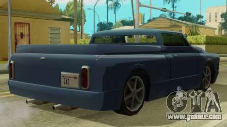 Kounts Pickup PaintJob for GTA San Andreas back left view