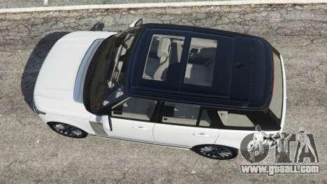 GTA 5 Range Rover Vogue 2013 v1.2 rear left side view