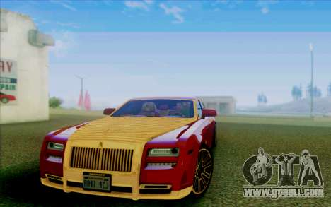 Rolls-Royce Ghost Mansory for GTA San Andreas side view