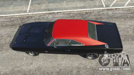 GTA 5 Dodge Charger RT 1970 v3.1 back view