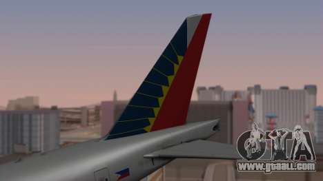 Boeing 777-200LR Philippine Airlines for GTA San Andreas back left view