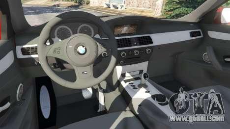 GTA 5 BMW M5 (E60) 2006 right side view