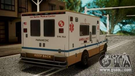 GTA 5 Brute Ambulance IVF for GTA San Andreas left view