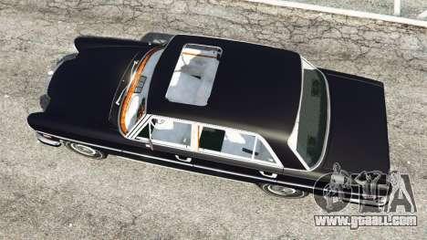 GTA 5 Mercedes-Benz 300SEL 6.3 v1.2.3 back view
