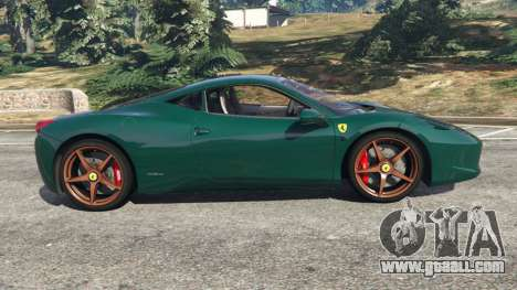 GTA 5 Ferrari 458 Italia 2009 v1.5 left side view