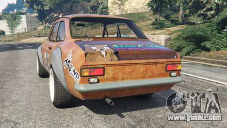 GTA 5 Ford Escort MK1 v1.1 [Hoonigan] rear left side view