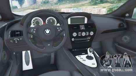 BMW M6 (E63) Tunable for GTA 5