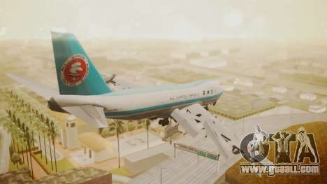 Boeing 747-100 All Nippon Airways for GTA San Andreas left view