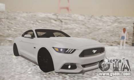 Ford Mustang GT 2015 Stock for GTA San Andreas left view
