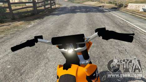 GTA 5 KTM 450SX Racing 2007 rear right side view