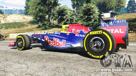 GTA 5 Red Bull RB8 [Sebastian Vettel] rear right side view