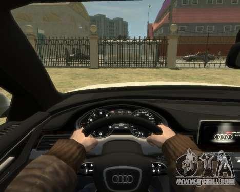 Audi A8L W12 2013 for GTA 4 back view