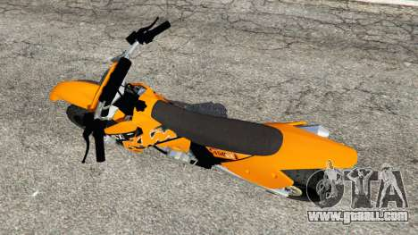 GTA 5 KTM 450SX Racing 2007 back view