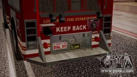 GTA 5 MTL Firetruck IVF for GTA San Andreas upper view