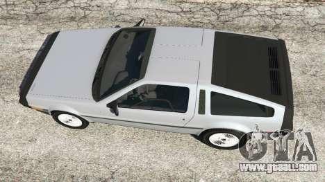 GTA 5 DeLorean DMC-12 back view