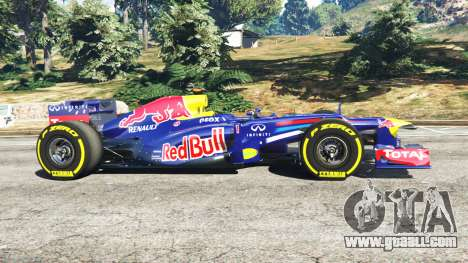 GTA 5 Red Bull RB8 [Sebastian Vettel] left side view