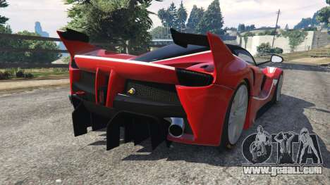 GTA 5 Ferrari FXX-K 2015 v1.1 rear left side view