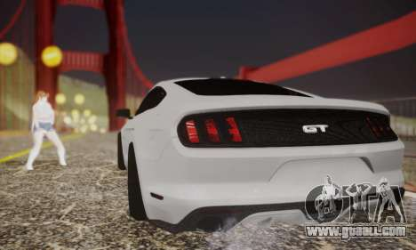 Ford Mustang GT 2015 Stock for GTA San Andreas right view