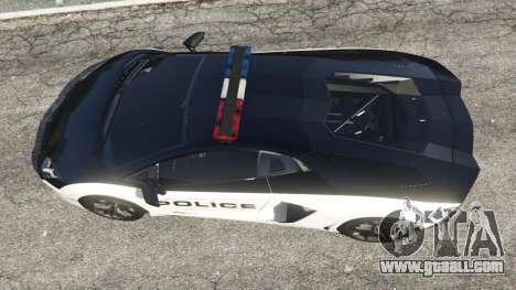 GTA 5 Lamborghini Aventador LP700-4 Police v4.0 back view