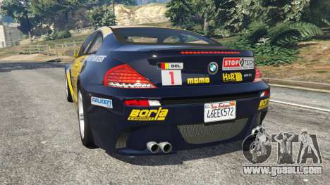 GTA 5 BMW M6 (E63) WideBody v0.1 [StopTech] rear left side view