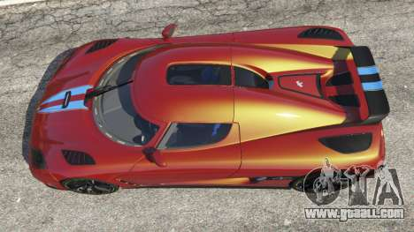 GTA 5 Koenigsegg Agera v0.8.5 [Early Beta] back view