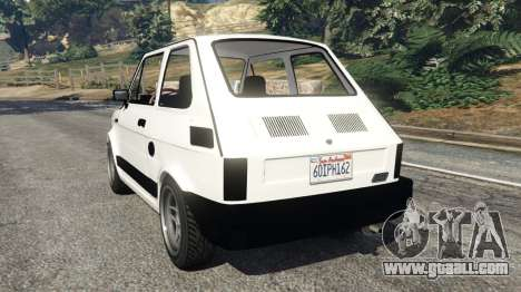 GTA 5 Fiat 126p v0.5 rear left side view