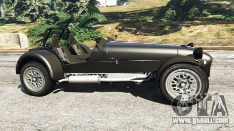 GTA 5 Caterham Super Seven 620R v1.5 [black] left side view